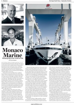 09.2019 PRESS SuperYachttimes.com<br>Thinking big in the world of refit