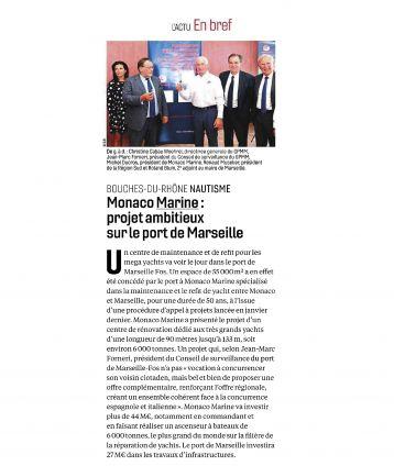 17.11.2018 PRESSE le Journal des entreprises<br />Projet Ambitieux sur le port Marseille
