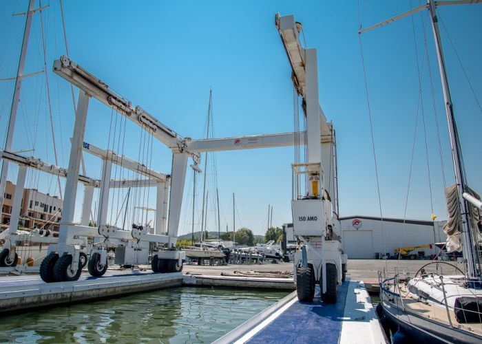 Golfe de Saint Tropez Shipyard under renovation